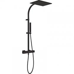 TRES - Souprava termostatické sprchové baterie Pevná sprcha 320x220mm. s kloubem. Materiál mosaz. Ruční sprcha, proti usaz (20219501NM)