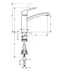 VÝPRODEJ - Focus E2 Páková dřezová baterie, chrom (31804000VYP), fotografie 2/1