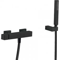 TRES - Jednopáková sprchová baterieRuční sprcha snastavitelným držákem, proti usaz. vod. kamene. Flexi hadice SATIN. (00716703NM)
