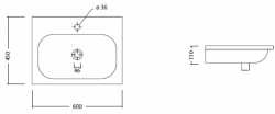 NEAT keramické umyvadlo 60x45cm (SAPHO23100601), fotografie 4/2