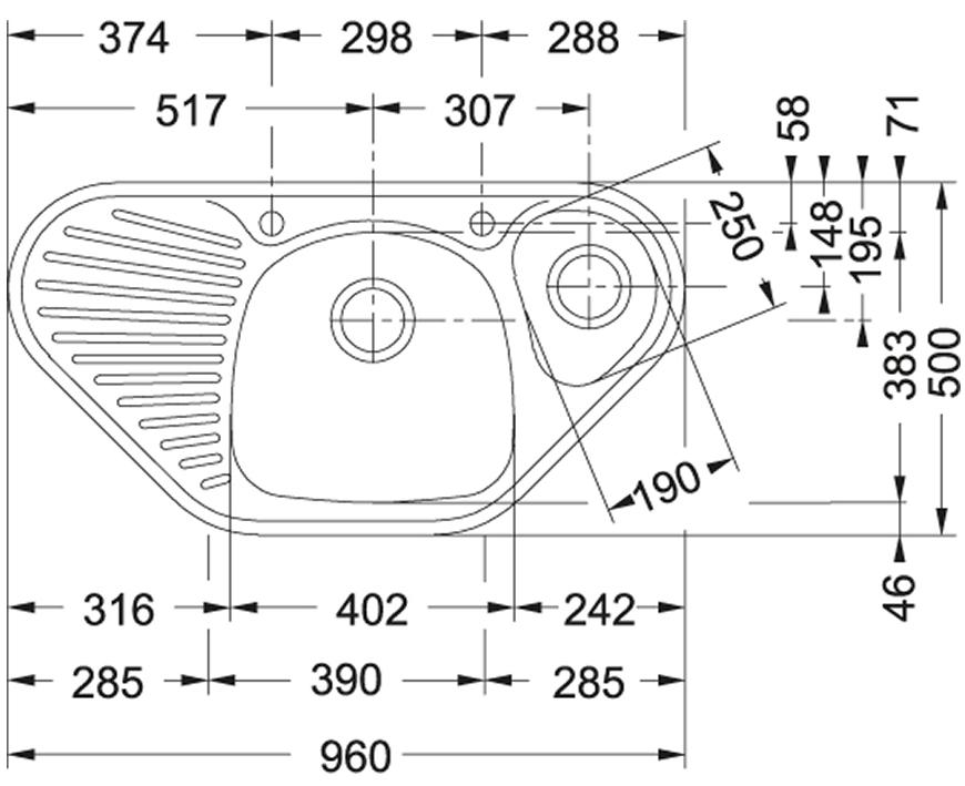 Ostatní - FRANKE (MON) 960x500 dřez roh. 3 1/2 (MOX651E), fotografie 2/1