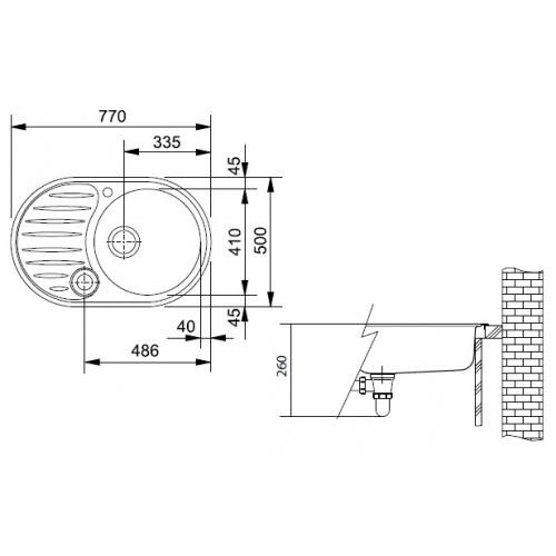 Ostatní - FRANKE  dřez ovál 770x500   /   bal. 1KS (PMN614), fotografie 2/1