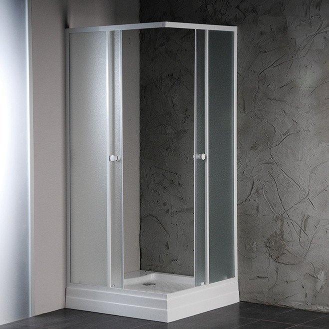 ALAIN čtvercová sprchová zástěna 900x900 mm, sklo BRICK (SAPHOYQ900)