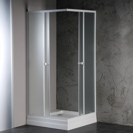 AQUALINE - ALAIN čtvercová sprchová zástěna 900x900 mm, sklo BRICK (SAPHOYQ900)