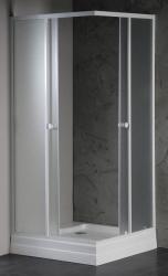 AQUALINE - ALAIN čtvercová sprchová zástěna 900x900 mm, sklo BRICK (SAPHOYQ900), fotografie 2/2