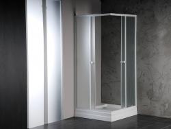 AQUALINE - ALAIN čtvercová sprchová zástěna 900x900 mm, sklo BRICK (SAPHOYQ900), fotografie 4/2