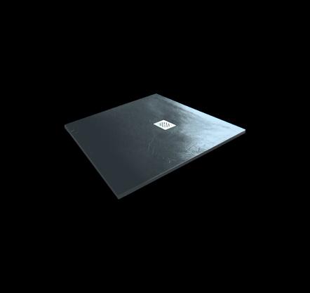 Aquatek - Hard TOP 90x90 sprchová vanička z litého mramoru s břidlicovým povrchem šedá (HARDTOP9090C)