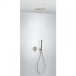 TRES - Podomítkový jednopákový sprchový sets uzávěrem a regulací průtoku. Včetně podomítkového tělesa Sprchové kropítko z  (26218099AC)
