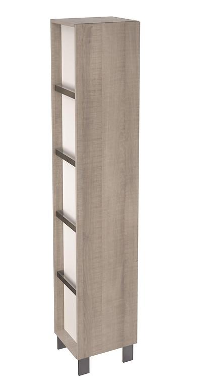 Skříňka vysoká přídavná CITY, šedý dub (S584-001)