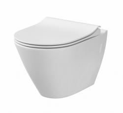 WC sedátko CITY OVAL SLIM antib. OFF EASY jedno tlačítko  (K98-0146) - CERSANIT, fotografie 4/2