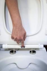 CERSANIT - WC sedátko CITY OVAL SLIM antib. OFF EASY jedno tlačítko  (K98-0146), fotografie 8/5