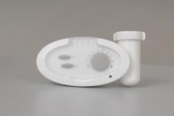 Ostatní - ISAN - Těleso-el.tyč FORTE bílá 800W s termostatem, vč.T-kusu (O14T1F08V-CZ) (O14T1F08V-CZ)