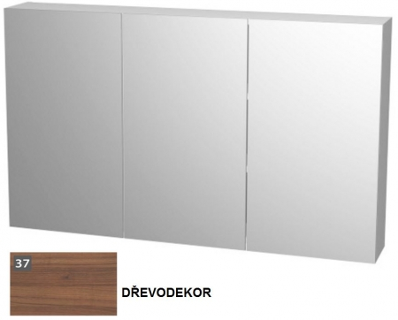 VÝPRODEJ - Zrcadlová skříňka s oboustranným zrcadlem 120×13×72cm E ZS 120 37 (MK31696VYP)