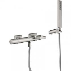 TRES - Jednopáková baterie pro vanu-sprchus kaskádou. Ruční sprcha snastavitelným držákem, proti usaz. vod. kamene. Flexi had (21117001AC)