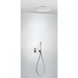 TRES - Podomítkový jednopákový sprchový set s uzávěrem a regulací průtoku. · Včetně podomítkového (21198099)