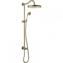 TRES - Sprchová souprava, proti usaz. vod. kamene Pevná sprcha O310mm. s kloubem. Ruční sprcha, proti usaz. vod. Kamene. (24247602LV)