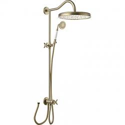 TRES - Sprchová souprava, proti usaz. vod. kamene Pevná sprcha O310mm. s kloubem. Ruční sprcha, proti usaz. vod. kamene. (24247601LV)
