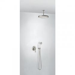 TRES - Sprchová sada vestavnás uzávěrem a regulací průtoku. Včetně podomítkového tělesa Pevná sprcha O310mm. s kloubem. (24218004AC)