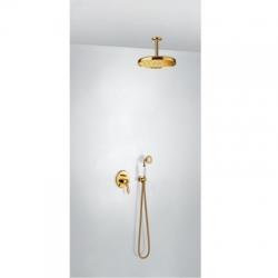 TRES - Sprchová sada vestavnás uzávěrem a regulací průtoku. Včetně podomítkového tělesa Pevná sprcha O310mm. s kloubem. (24218004OR)
