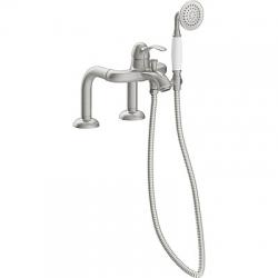 TRES - Jednopáková stojánková vanová baterieRuční sprcha proti usaz. vod. kamene. Flexi hadice sdvojitým opletem (24219401AC)