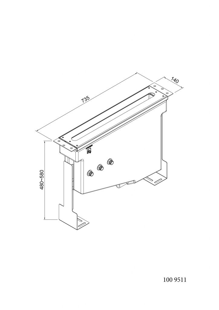 STEINBERG - Montážní těleso s montážní deskou (100 9511)