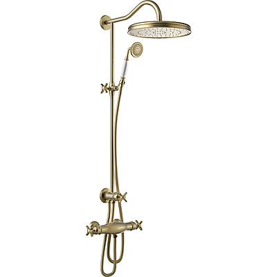 TRES Souprava termostatické sprchové baterie, pevná sprcha průměr 310 mm, s kloubem 24219501LV