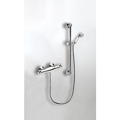 Sprchový set s termostatickou baterií CLASIC · Posuvná tyč RETRO o délce 550 mm. · Ruční s (03216402LV) Tres