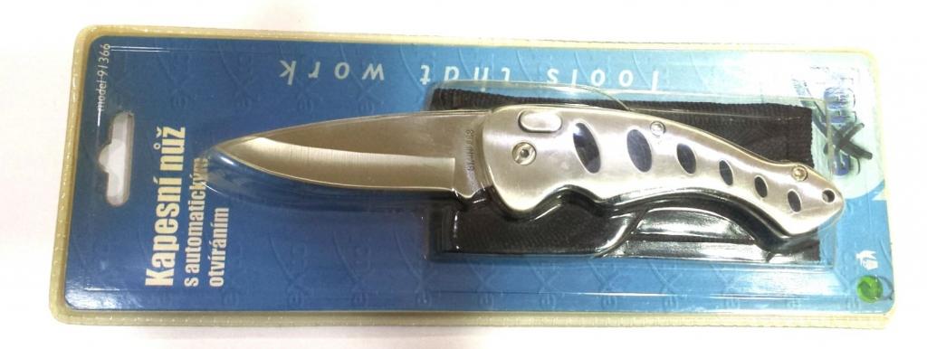 Ostatní - Nůž zavírací s automatickým otvíráním ALI (NÁŘ91366)