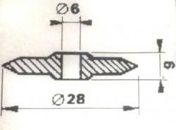 Ostatní - Kolečko řezací 6/28mm  542 (Nář 58), fotografie 4/2