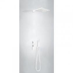 TRES - Termostatický podomítkový sprchový set BLOCKSYSTEMs uzávěrem a regulací průtoku (2-cestná). Včetně podomítkového ter (20625201BM)