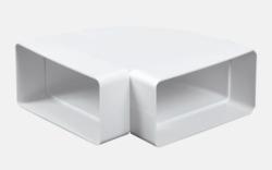 Ostatní - Koleno vodorovné ploché 90° 2x110x55 (DEN/VE1183)