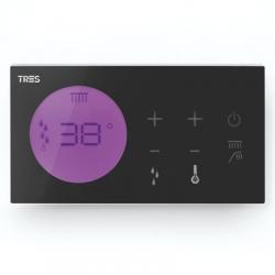 TRES - Zapuštěné elektronické termostatické ovládání SHOWER TECHNOLOGY  Včetně elektronického ovládání (černá barva). Zabud (09288299)