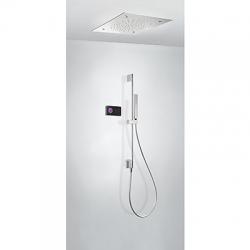 TRES - Termostatický podomítkový elektronický sprchový set SHOWERTECHNOLOGY Včetně elektronického ovládání (černá barva).  (09288305)