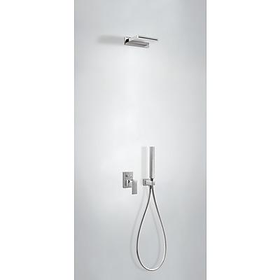 Podomítkový jednopákový sprchový set CUADRO s uzávěrem a regulací průtoku.· Včetně podomí (00618006) Tres