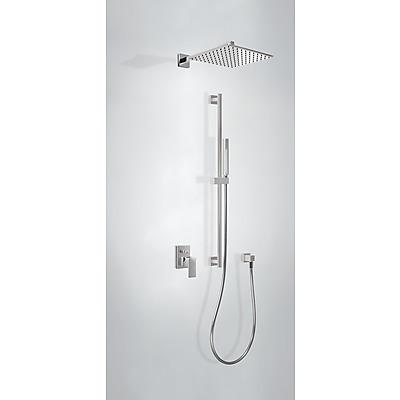Podomítkový jednopákový sprchový set CUADRO s uzávěrem a regulací průtoku. · Včetně podomí (106985) Tres