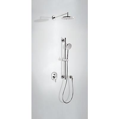 Podomítkový jednopákový sprchový set ALPLUS s uzávěrem a regulací průtoku. · Včetně podomí (20318003) Tres