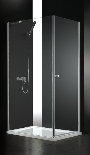 VÝPRODEJ - GLASS R31 120x90cm CHROM Sprchová zástěna, výplň sklo-frost (GLASSR31-21VYP)