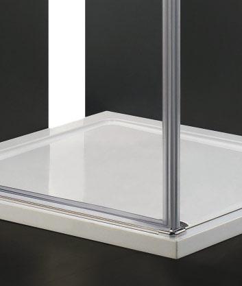 VÝPRODEJ - GLASS R31 120x90cm CHROM Sprchová zástěna, výplň sklo-frost (GLASSR31-21VYP), fotografie 2/3