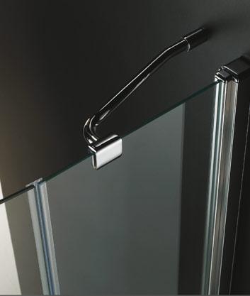 VÝPRODEJ - GLASS R31 120x90cm CHROM Sprchová zástěna, výplň sklo-frost (GLASSR31-21VYP), fotografie 4/3