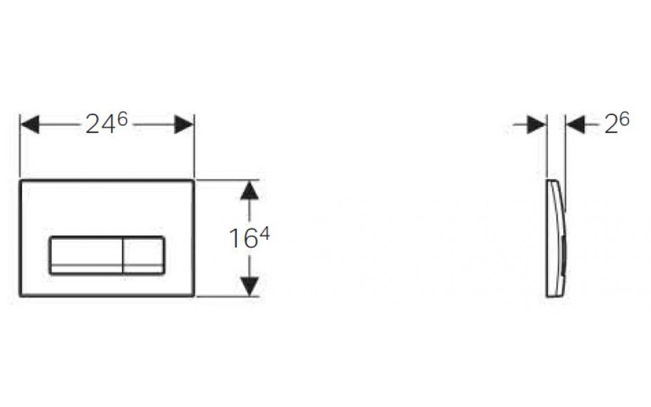 AKCE/SET/GEBERIT - Duofix Sada pro závěsné WC 458.103.00.1  + tlačítko DELTA51 CHROM + WC CERSANIT CREA HRANATÉ CLEANON + Sedátko (458.103.00.1 CR2), fotografie 6/9