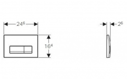 AKCE/SET/GEBERIT - Duofix Sada pro závěsné WC 458.103.00.1  + tlačítko DELTA51 CHROM +WC CERSANIT Parva NEW CLEANON + Sedátko (458.103.00.1 PA1), fotografie 6/8