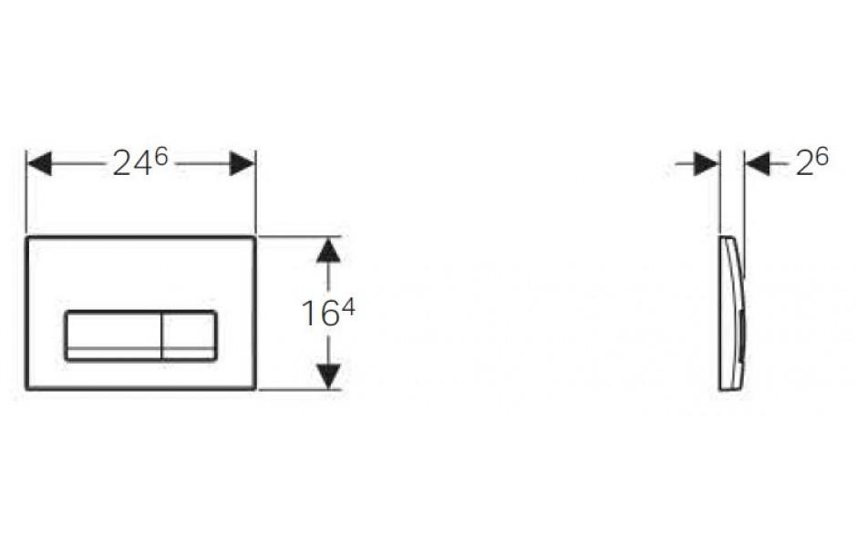 AKCE/SET/GEBERIT - Duofix Sada pro závěsné WC 458.103.00.1  + tlačítko DELTA51 CHROM + WC CERSANIT Parva NEW CLEANON + Sedátko (458.103.00.1 PA2), fotografie 6/8