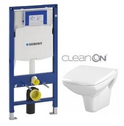 AKCE/SET/GEBERIT - Duofix pro závěsné WC 111.300.00.5 + klozet a sedátko CERSANIT CARINA CLEANON /K31-046+K98-0068/ (111.300.00.5 CA1)