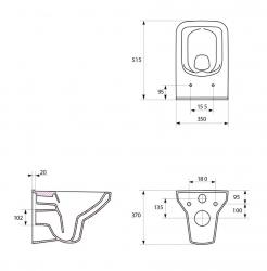 AKCE/SET/VIEGA - SET MONO modul WC čelní ovládání + ovládací tlačítko CHROM + WC CERSANIT COMO CLEANON + SEDÁTKO (V606732CR CO1), fotografie 14/8