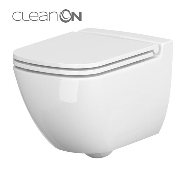 AKCE/SET/VIEGA - MONO modul WC čelní ovládání + ovládací tlačítko CHROM + WC CERSANIT CASPIA CLEANON + SEDÁTKO (V606732CR CP1), fotografie 6/9