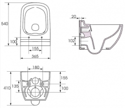 AKCE/SET/VIEGA - MONO modul WC čelní ovládání + ovládací tlačítko CHROM + WC CERSANIT CASPIA CLEANON + SEDÁTKO (V606732CR CP1), fotografie 16/9