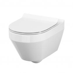 SET MONO modul WC čelní ovládání + ovládací tlačítko CHROM + WC CERSANIT CREA OVÁL CLEANON + SEDÁTKO (V606732CR CR1) - AKCE/SET/VIEGA, fotografie 4/9