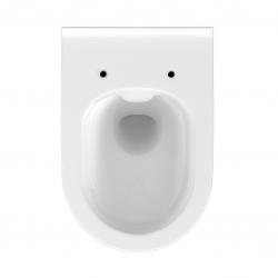 SET MONO modul WC čelní ovládání + ovládací tlačítko CHROM + WC CERSANIT CREA OVÁL CLEANON + SEDÁTKO (V606732CR CR1) - AKCE/SET/VIEGA, fotografie 2/9