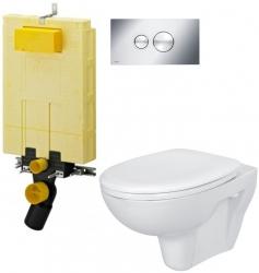 AKCE/SET/VIEGA - SET MONO modul WC čelní ovládání + ovládací tlačítko CHROM + WC CERSANIT PRESIDENT + SEDÁTKO (V606732CR PR1)