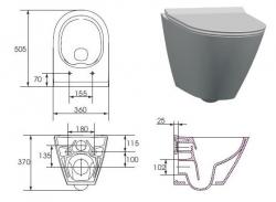 AKCE/SET/GEBERIT - Duofix pro závěsné WC 111.300.00.5 CR + klozet a sedátko CERSANIT CITY CLEANON /K35-025+K98-0146/ (111.300.00.5 CI1), fotografie 6/6